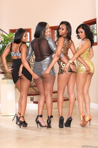 sexy black ladies posing