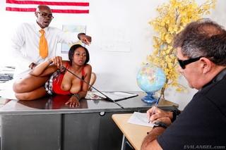 oiled bootylicious black schoolgirl