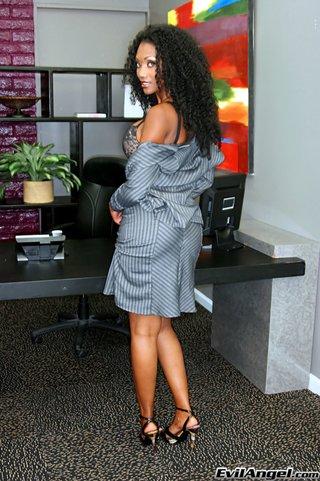 busty ebony businesswoman sexy