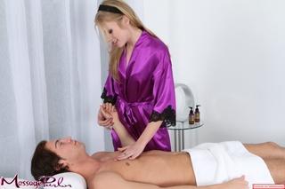 alluring blonde purple silk