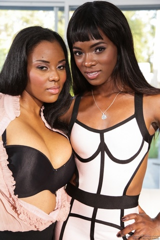 black lesbians posing with
