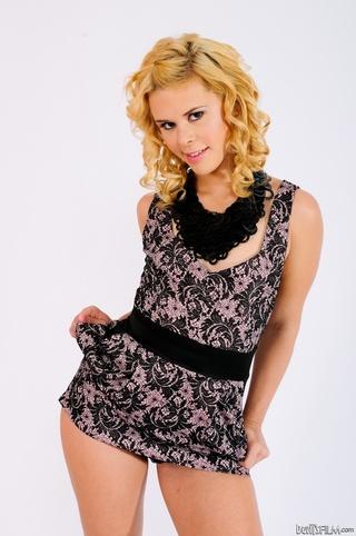 blonde teen short dress