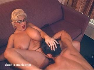 black panties busty blonde