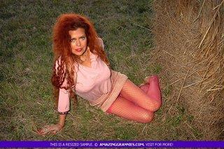 redhead grandma pose stunning