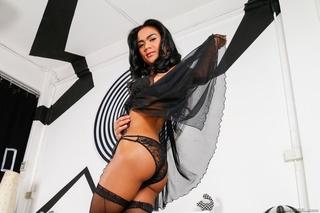 gorgeous transsexual black lace