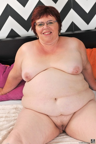 chubby mature teases body
