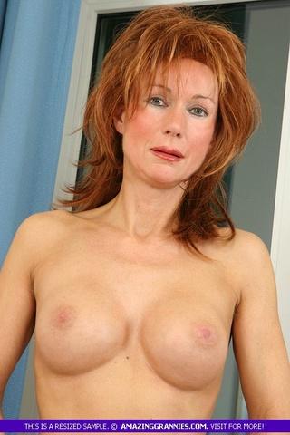 steaming hot redhead granny