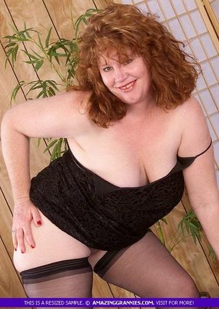 foxy granny displays fat