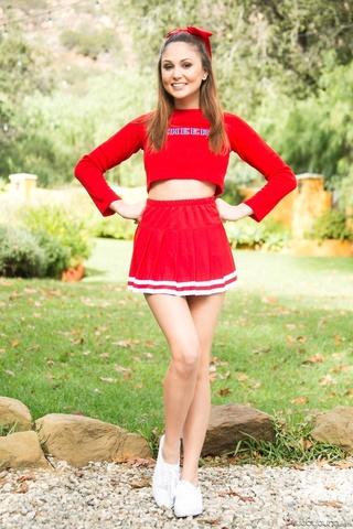 sexy teens red cheerleader