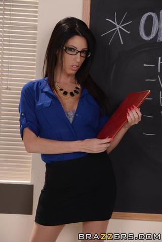 hot black haired teacher