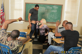 hot blonde teacher printed