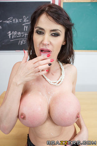 busty black haired teacher