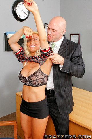 hot blonde teacher busy