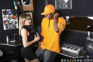 interracial sex blonde recording