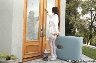 white nylons mature brunette