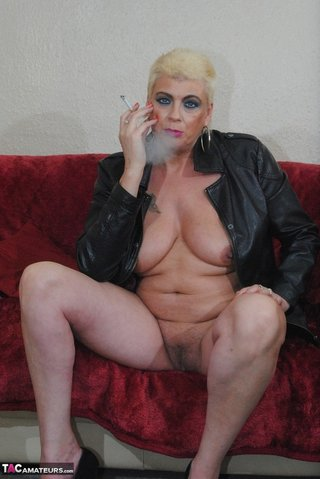 amateur, blonde, cigarette, slut