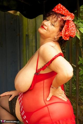 brunette milf massive tits