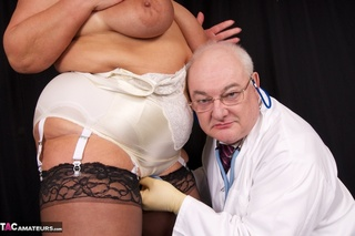 horny doctor inspects fluffy