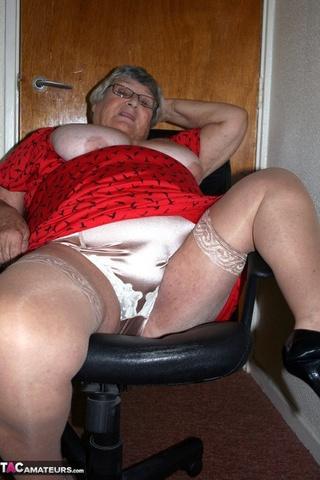 pretty platinum blonde grandma