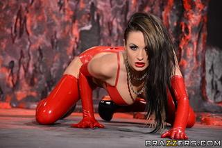 devilish babes red latex