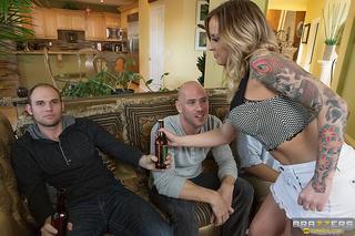 busty tattooed wife cheating