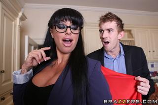 tempting brunette big tits