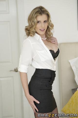 great blonde white shirt
