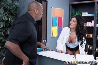 horny brunette doctor fucked