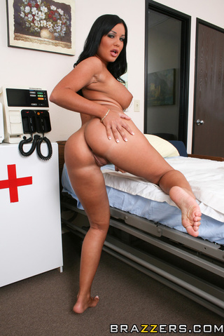 raven haired nurse creamed