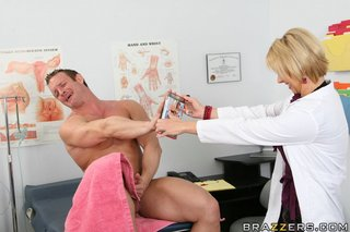 hot blonde doctor sucks