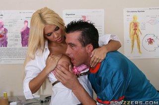 allluring blonde doctor big