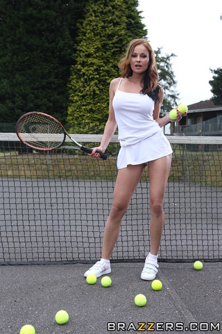 Sexy female tennis player pussy