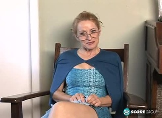 blonde granny glasses blue