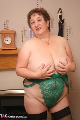 hot granny displays humongous