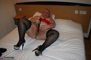 amateur, black, stockings, white