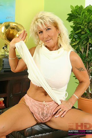blonde grandma white dress