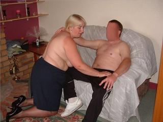 chubby milf lets horny