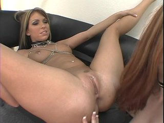 redhead undressing stretching pussy