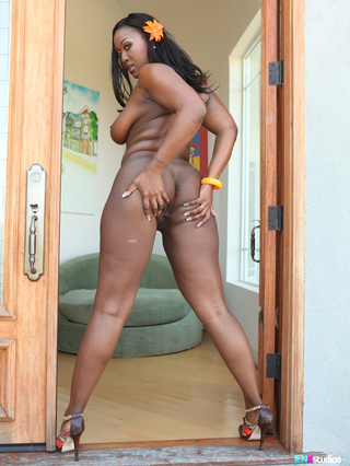 banging ebony teases smoking