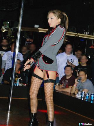 sexy stripper peels gray