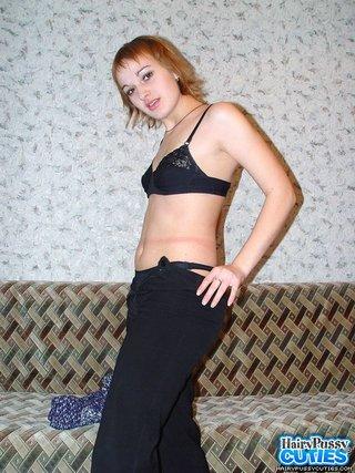small tits blonde black