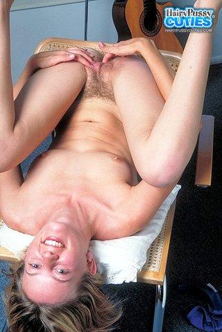 blonde, hairy, peeing, table
