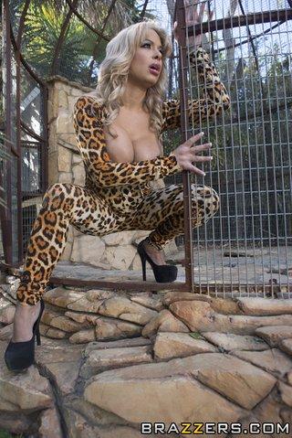 blonde cougar leopard rides