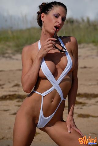 long legs hot beach