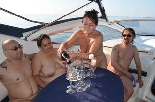 granny celebrating birthday yacht