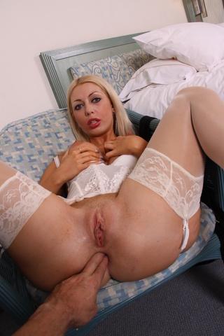 blonde chick huge bazookas