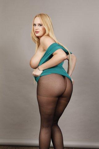 voluptuous blonde slut wearing
