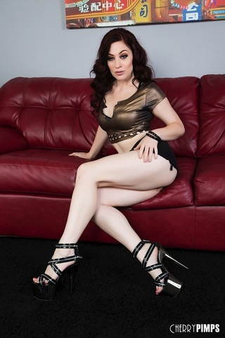 stripper heels redhead sucking