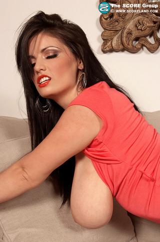 red dress brunette fingering