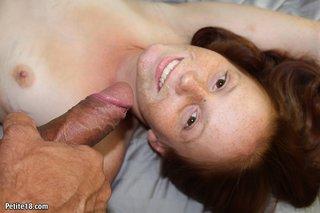 black panties pale redhead